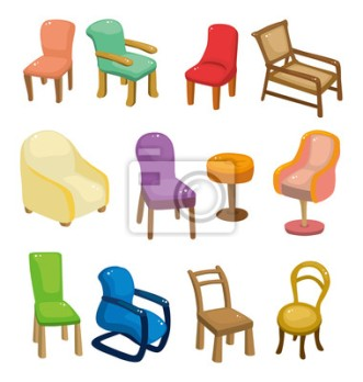 cuadro-poster-silla-de-dibujos-animados-muebles-icon-set-ilustracion